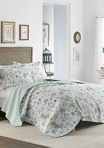 King Breezy Floray Grey Quilt Set