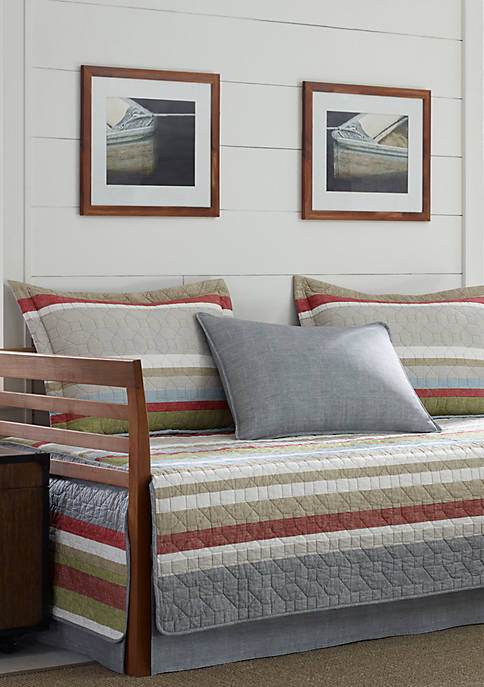 Eddie Bauer Salmon Ladder Stripe Daybed Set