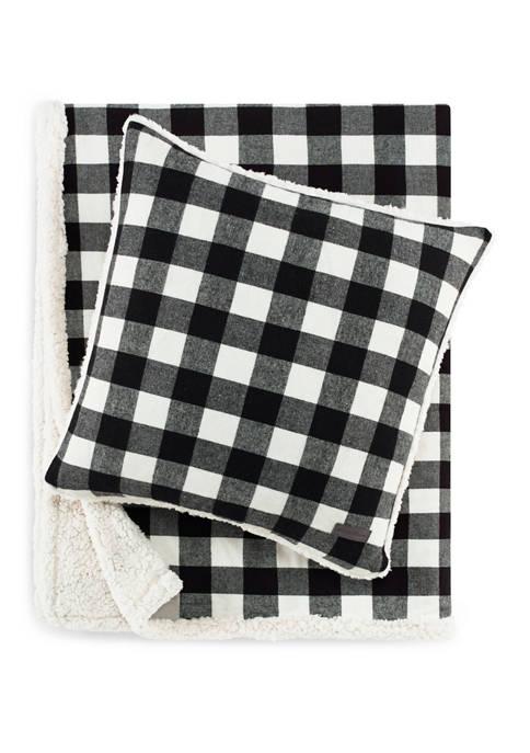 Cabin Plaid Cotton Flannel Throw Pillow Set