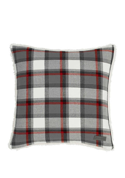Eddie Bauer Wallace Plaid Cinder Decorative Pillow