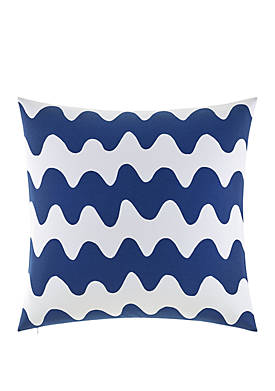 Pikku Lokki Blue 26 in x 26 in Decorative Pillow