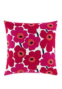 Marimekko Pieni Unikko Red 26 in x 26 in Decorative Pillow