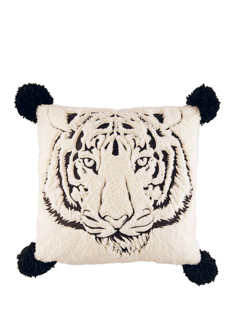 Betsey Johnson Betseys Tiger Cotton Decorative Pillow