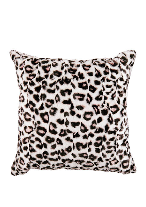 Betsey Johnson Betseys Leopard Cotton Decorative Pillow