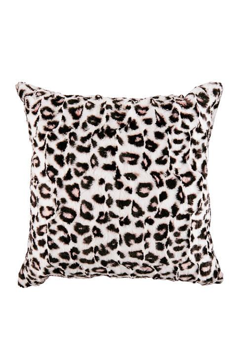Betseys Leopard Cotton Decorative Pillow