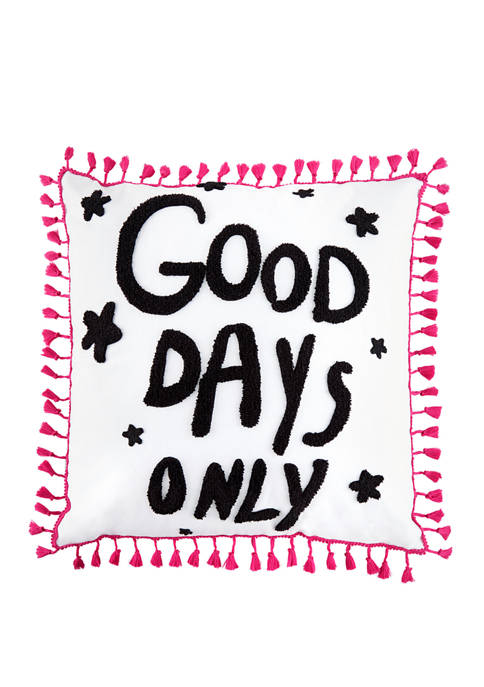 Betsey Johnson Good Days Only Cotton Decorative Pillow