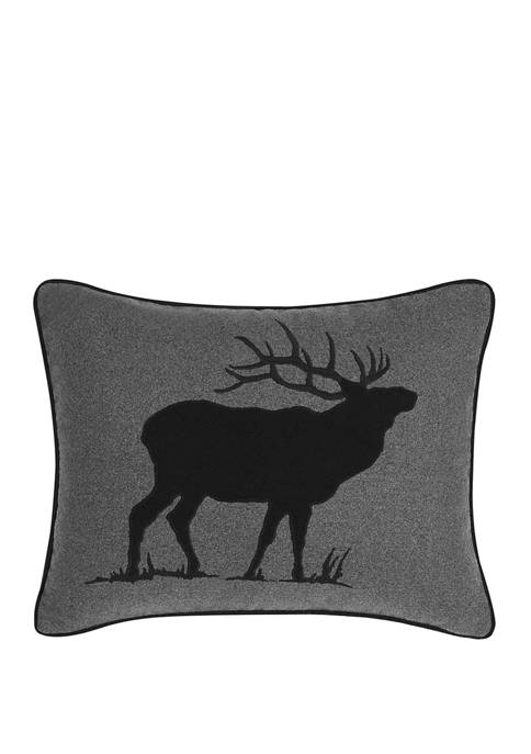 Eddie Bauer Elk Black Decorative Pillow