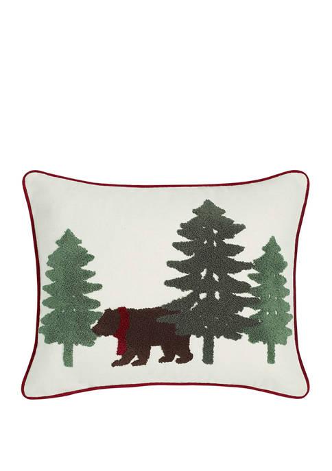 Eddie Bauer Bear Scene Bedding Pine Decorative Pillow