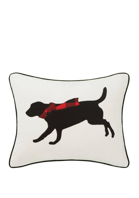Eddie Bauer Winter Lab Red Decorative Pillow