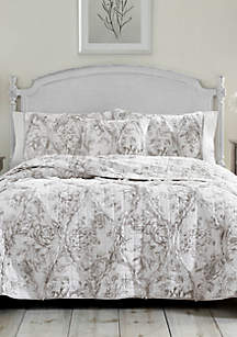 Gray Lena Twin Quilt