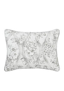 Lena Gray Quilted Standard Sham