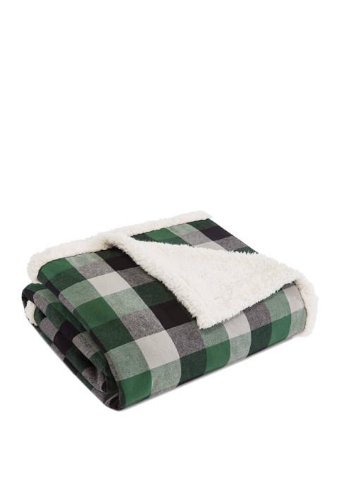 Eddie Bauer Finley Plaid Pine Throw Blanket