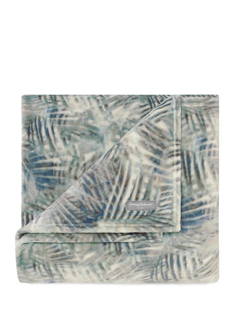 CITY SCENE® Rough Palms Plush Throw Blanket