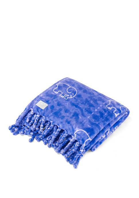 Ivory Ella Gia Fleece Throw Blanket