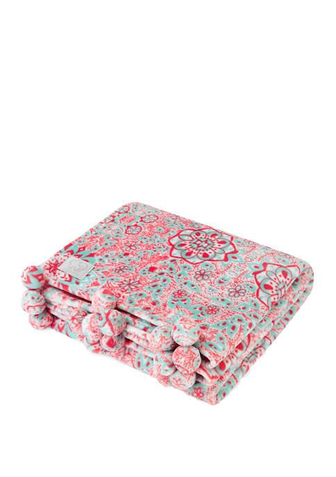 Ivory Ella Shae Fleece Throw Blanket