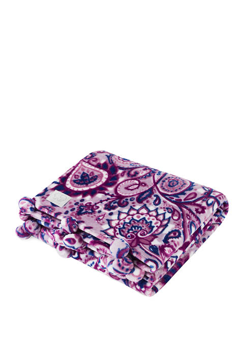 Ivory Ella Carina Fleece Throw Blanket