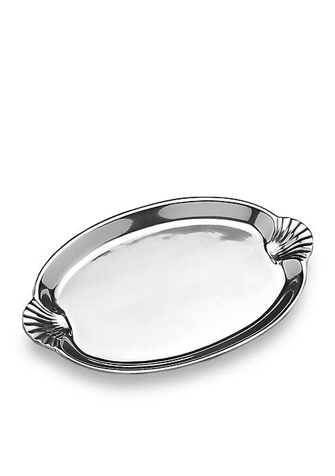 Scallop Handle Large Oval Tray - Online Only