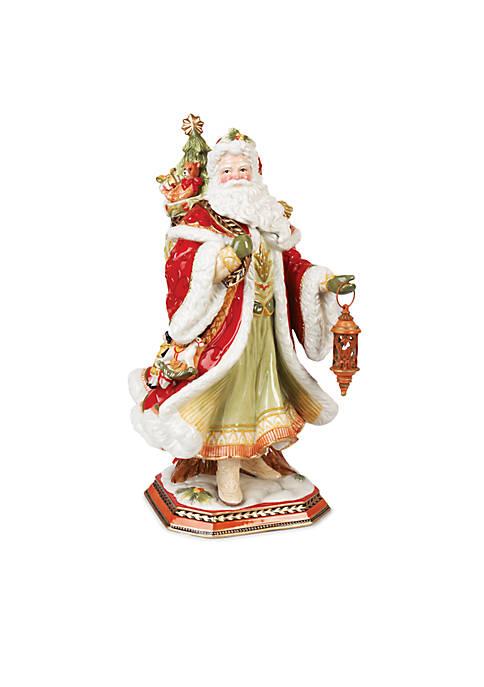 Fitz and Floyd Damask Holiday Santa Figurine