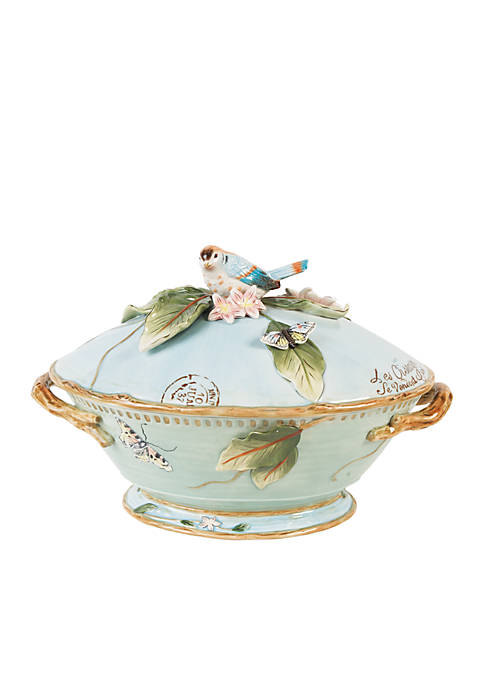 Fitz and Floyd Toulouse Tureen with Ladle
