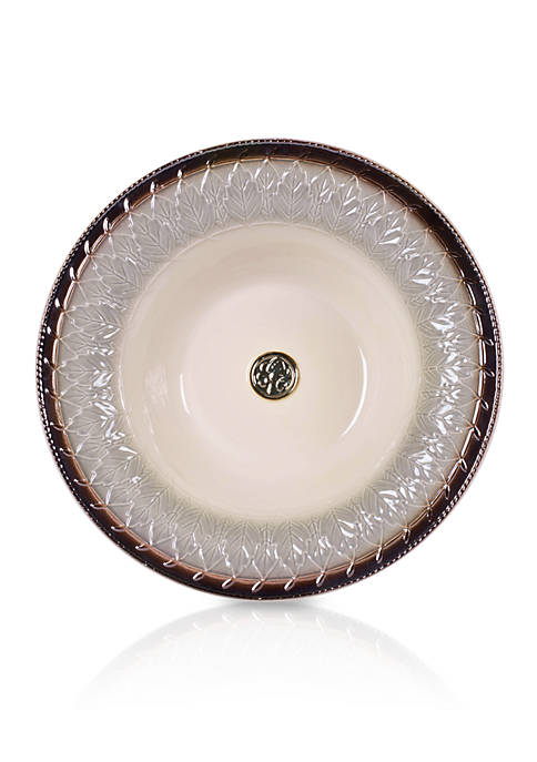 Fitz and Floyd Carrington Serving Bowl with Motif