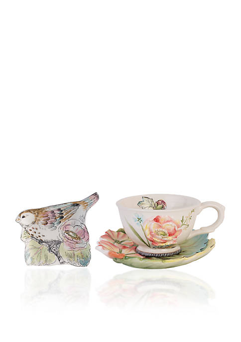Fitz and Floyd 3-piece Teacup Set
