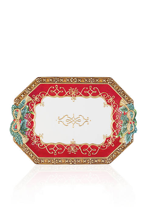 Fitz and Floyd Yuletide Holiday Serving Platter