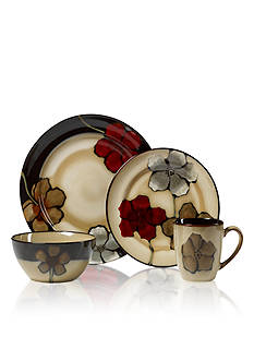 Pfaltzgraff Everyday Painted Poppies 16-Piece Set
