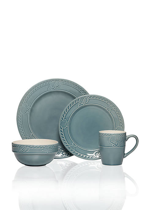 Pfaltzgraff Antigua Blue 16-Piece Dinnerware Set