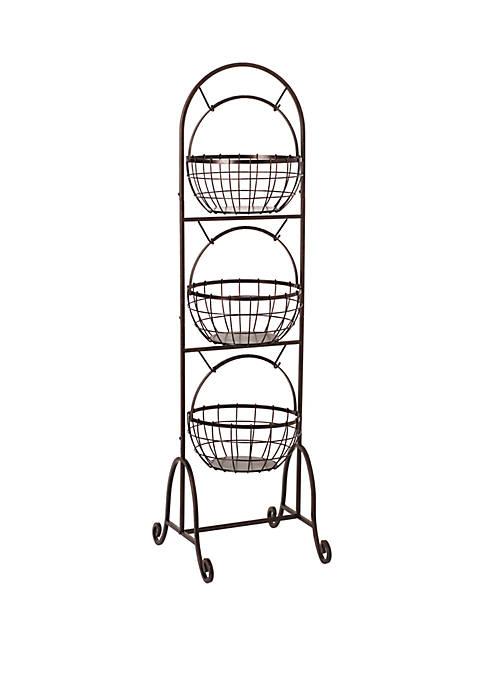Homespun 3-Tier Market Basket