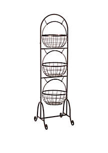 Homespun 3-Tier Market Basket
