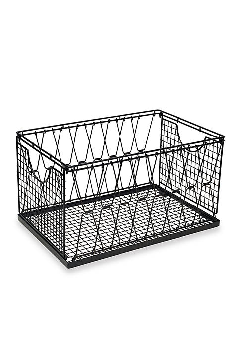 Mikasa Criss-Cross Collapsible Stacking Basket