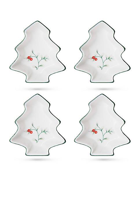 Pfaltzgraff Winterberry Tree Dip Bowl, Set of 4