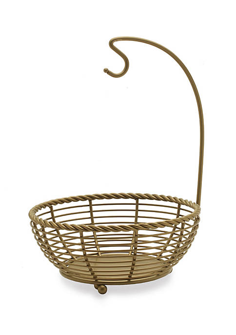 Mikasa Gourmet Basics Rope Matte Gold Fruit Basket