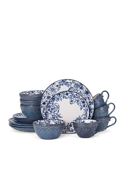 Gabriela Blue 16-pc. Dinnerware Set