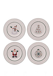 Set of 4 Accent Salad Plates