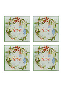 Holiday Love Coasters, Set Of 4