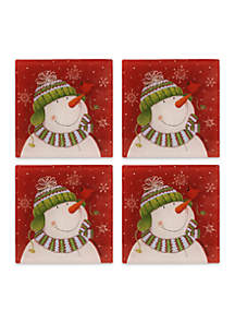 Snowman Set of 4 Coasters