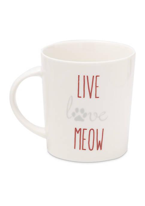 Pfaltzgraff Live Love Meow Mug