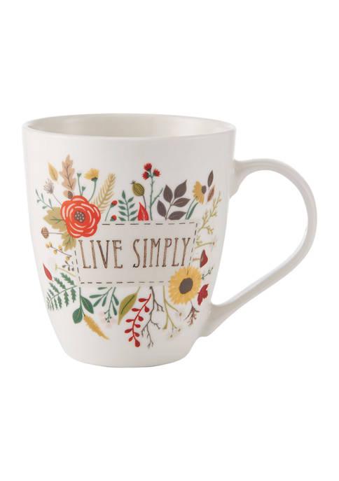 Live Simply Barrel Mug