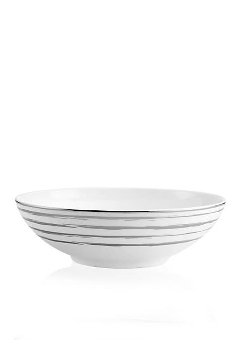 Swirl Platinum Vegetable Bowl 8.5-in. x 8.5-in. x 2-in.