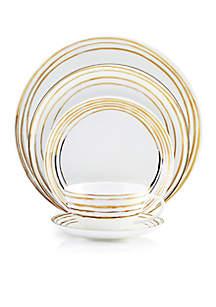 Swirl Gold 5-Piece Place Setting