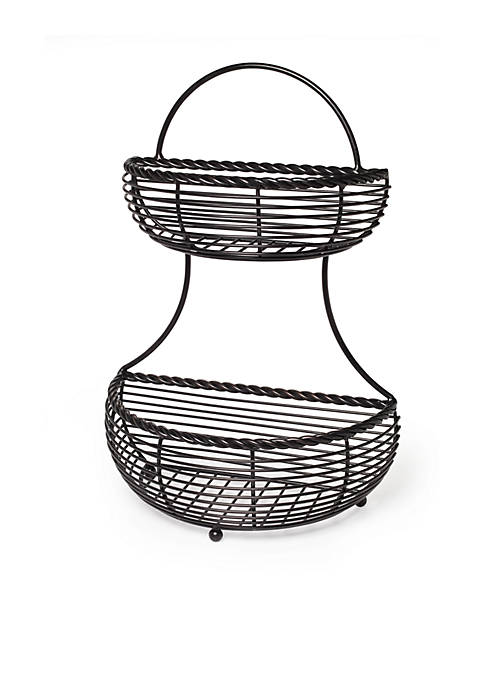 Mikasa Gourmet Basics Rope 2 Tier Countertop Basket