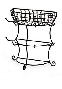 Gourmet Basics Mug Tree with Basket