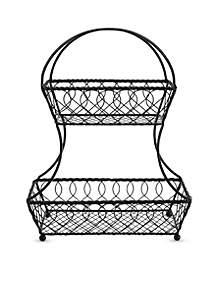 Gourmet Basics Lattice 2-Tier Fruit Basket