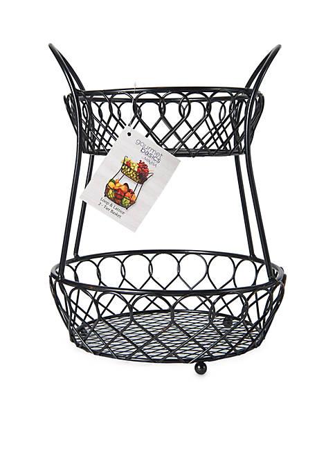 Mikasa Loop and Lattice 2 Tier Basket