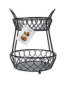 Loop and Lattice 2 Tier Basket