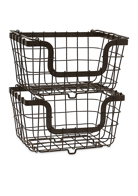 Mikasa General Store 2 Stacking Nesting Baskets