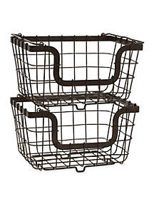 General Store 2 Stacking Nesting Baskets