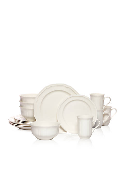 Mikasa Antique White 16 Piece Dinnerware Set