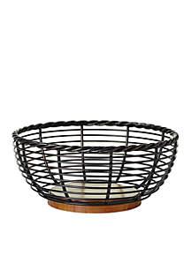 Gourmet Basics Rope Round Fruit Basket